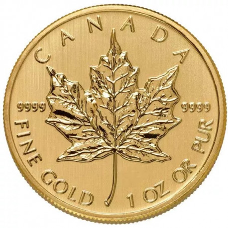 1 oz Canadian Gold Maple Leaf Coin (Common Date) - peninsulahcap