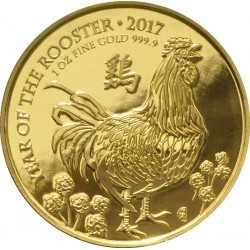 2017 Royal Mint 1oz Year of the Rooster Gold Coin - peninsulahcap