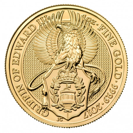 2017 1 oz Queen's Beasts Gold Coin   The Griffin - peninsulahcap