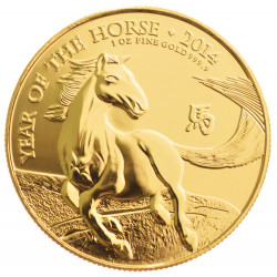 2014 1 OZ Year of the Horse UK Gold Coin - peninsulahcap