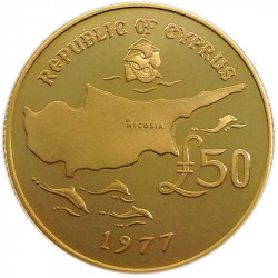 Buy a Cyprus 50 Pounds Gold Coin - peninsulahcap
