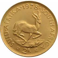 South African 2 Rand Gold Coin - peninsulahcap