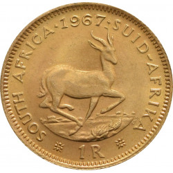 South African 1 Rand Gold Coin - peninsulahcap